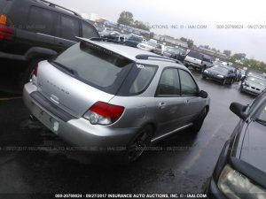 2005 Subaru wrx wagon right rear