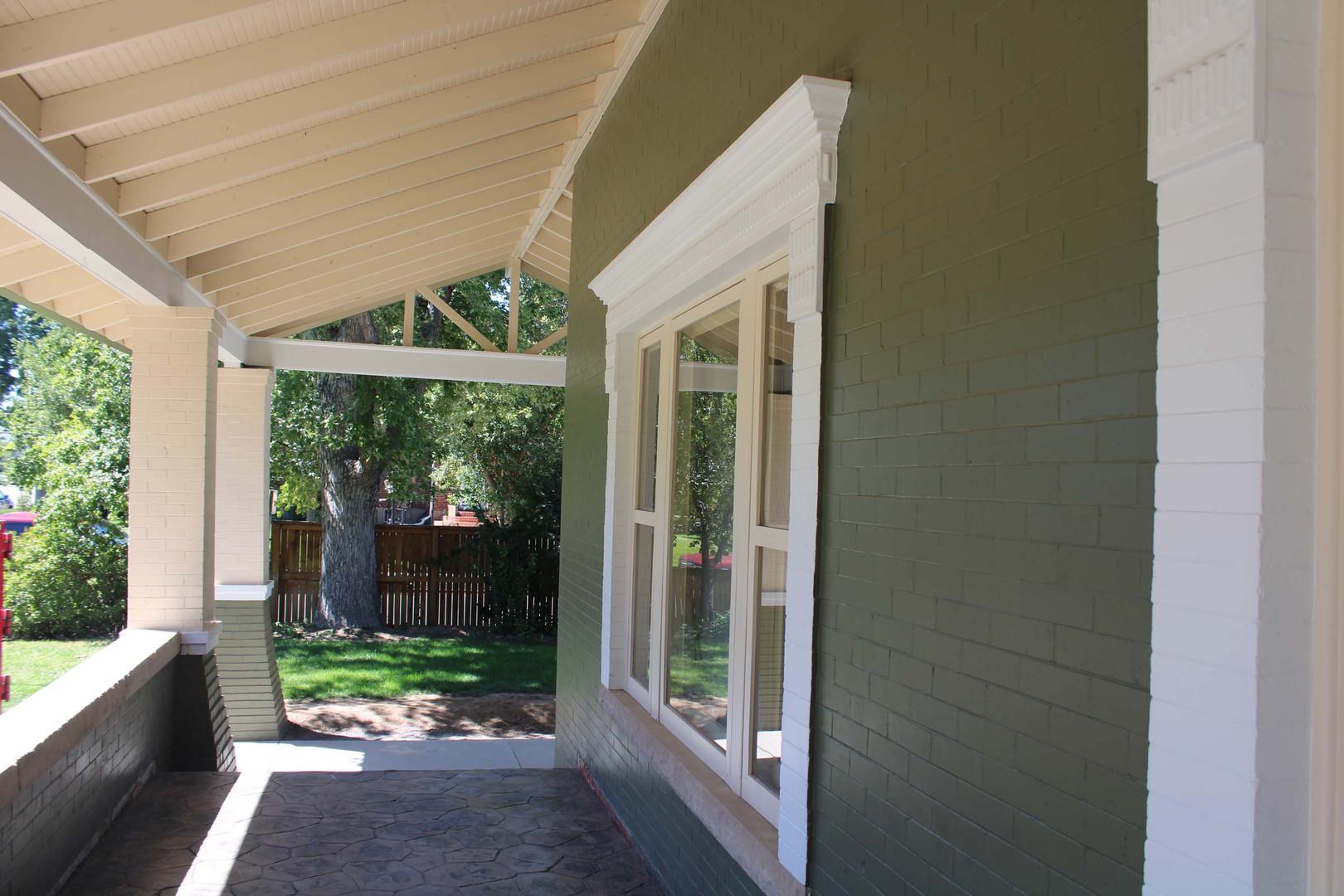 custom home patio awning