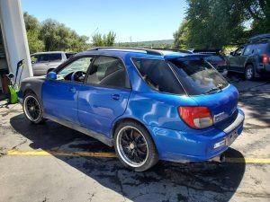 2002 WRX wagon left rear