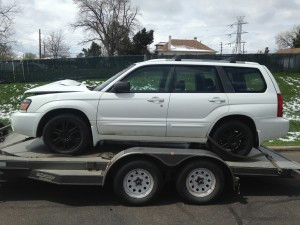 2005 Subaru Forester XT left