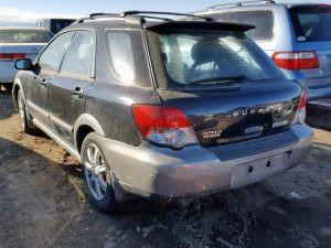 2005 impreza outback rear left