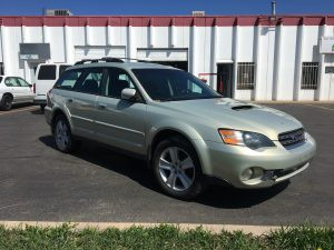 2005 Outback xt front right