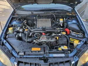 2008 Outback XT engine bay
