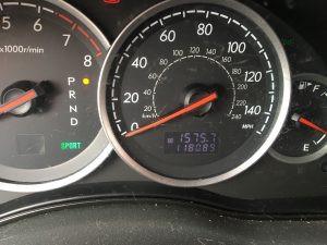 2006 legacy sedan cluster