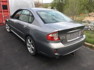 2009 Legacy sedan rear left