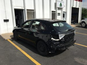 2010 Impreza hatch left rear