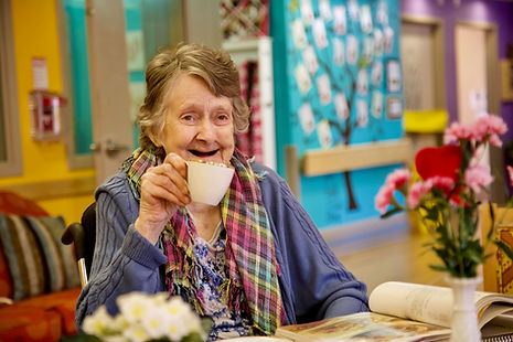 primacare senior resident having tea