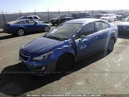2015 Subaru Impreza sedan 2.0L part out