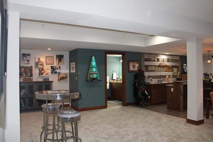 open basement remodel