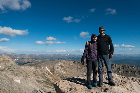 jaala shaw and husband larry on mountain