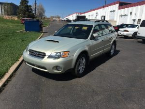2005 Outback xt front left