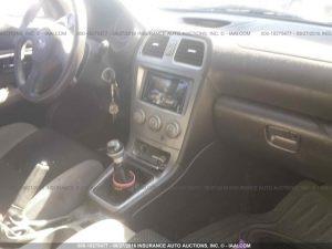 2006 Subaru WRX sedan interior