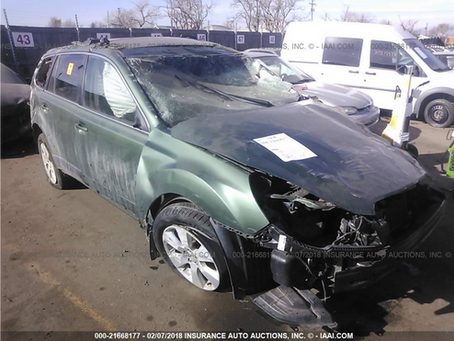 2011 Subaru Outback 2.5L 120k 6 speed M/T Green complete PART OUT