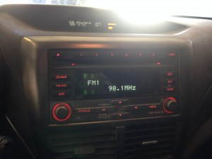 2008 WRX sedan radio