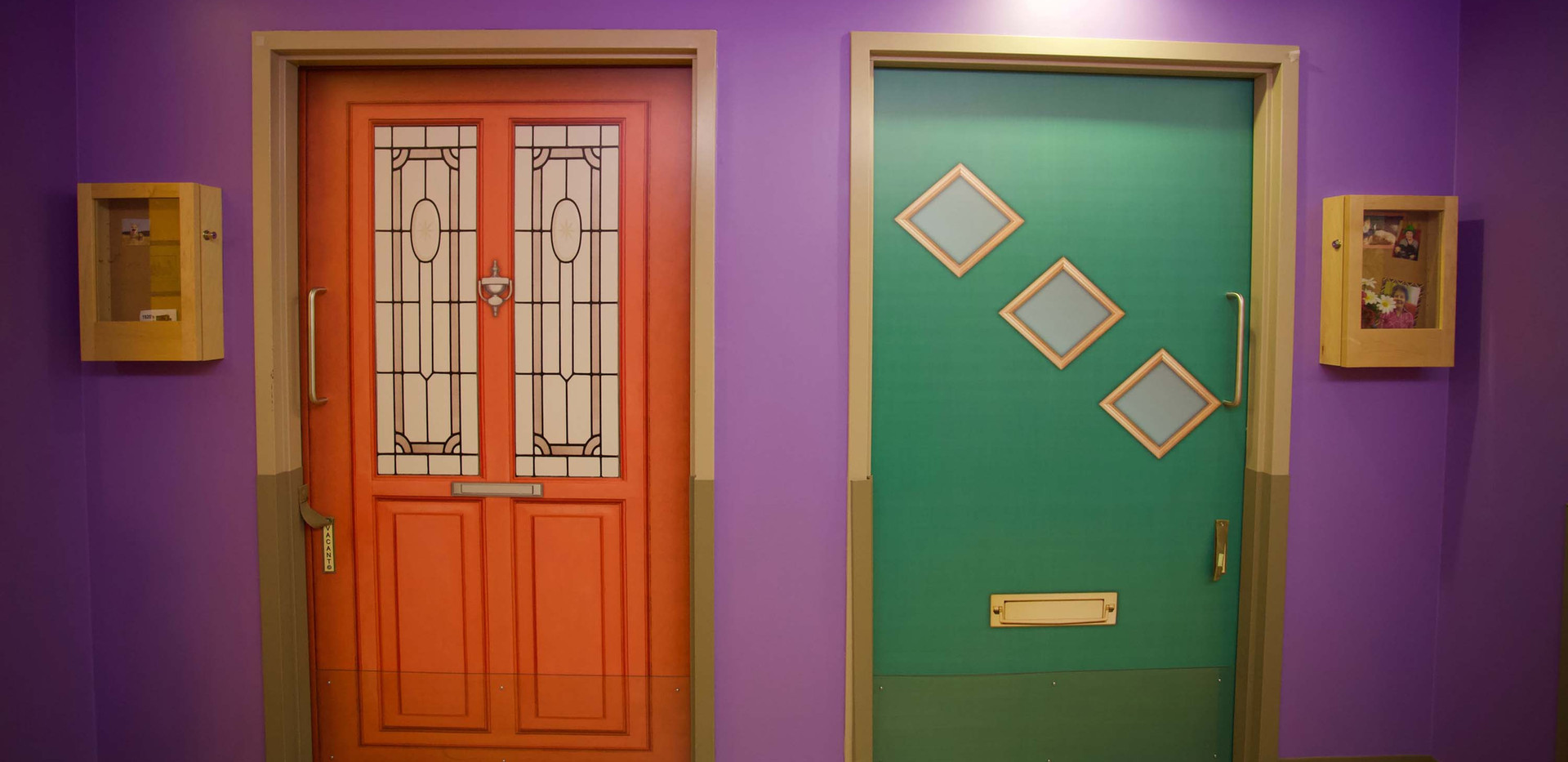 henley place colorful resident doors