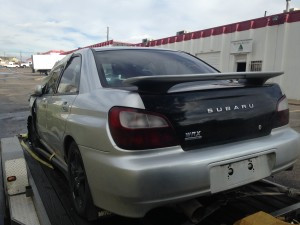2003 subaru WRX left rear