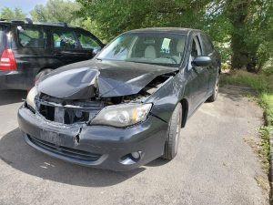 2009 Impreza sedan black front left