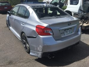 2016 Subaru WRX left rear