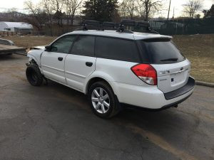 2009 Outback rear left