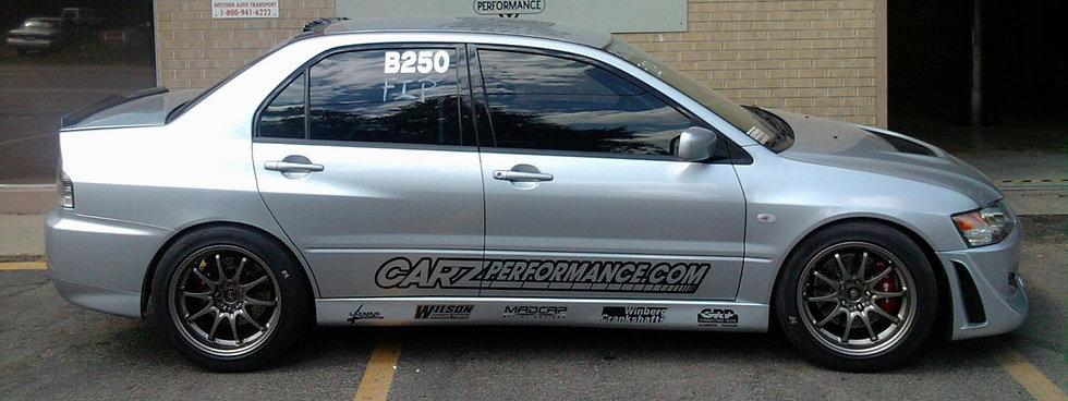 Carz Performance, Lazarus Race Cars, Madcap Racing engines, Winberg Crankshafts, GRP Connecting Rods, Western Motorsports, V. Gaines, Kendall, Dart, Colorado, Mitsubishi, EVO 8, Volk, Brembo, Precision Turbo, Full Race, Colorado