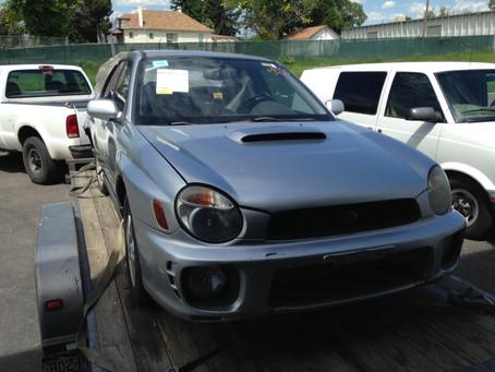 2003 Subaru WRX silver sedan complete part out 5-speed 150K