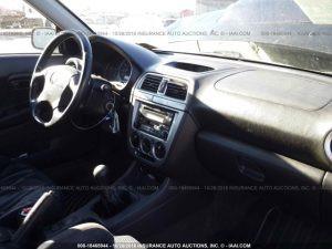2002 Subaru WRX sedan interior