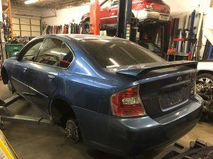 2007 Legacy GT left rear