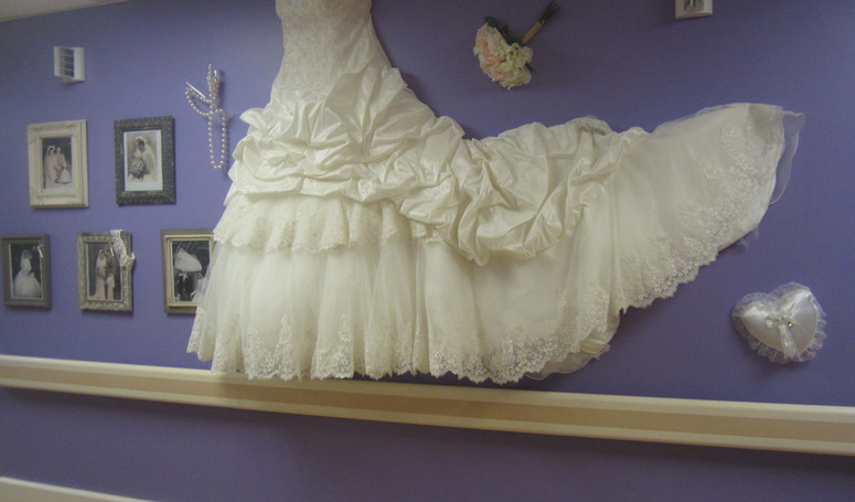henley house wall decorated in bridal theme