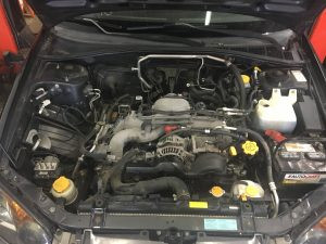 2005 Impreza OBS engine bay