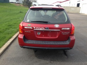 2005 Subaru Outback XT rear