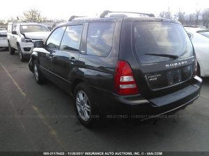 2004 Forester XT left rear
