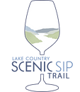 scenic sip logo, scenic sip, scenic sip trail, lake country bc, bc wineries, intrigue wines, kelowna wineries