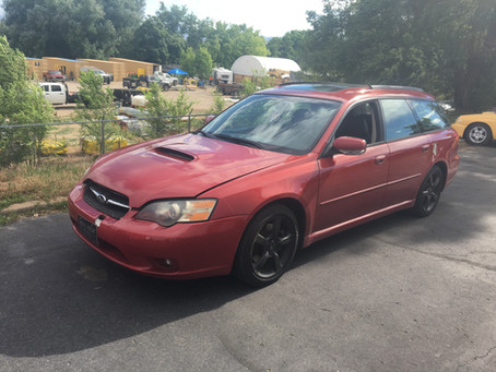 2005 Subaru Legacy GT 107k Automatic Red complete PART OUT