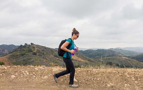 jaala shaw running on outdoor trail