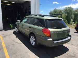 2007 Outback rear left