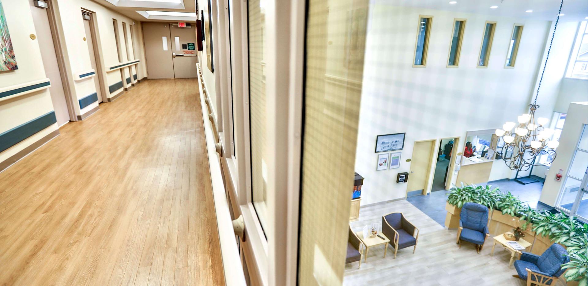 inside hallway of burton manor