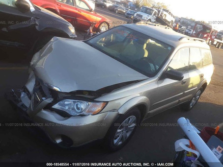 2008 Subaru Outback 2.5i Base complete part out