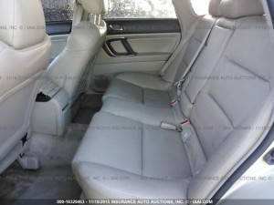 2005 Outback XT rear seats