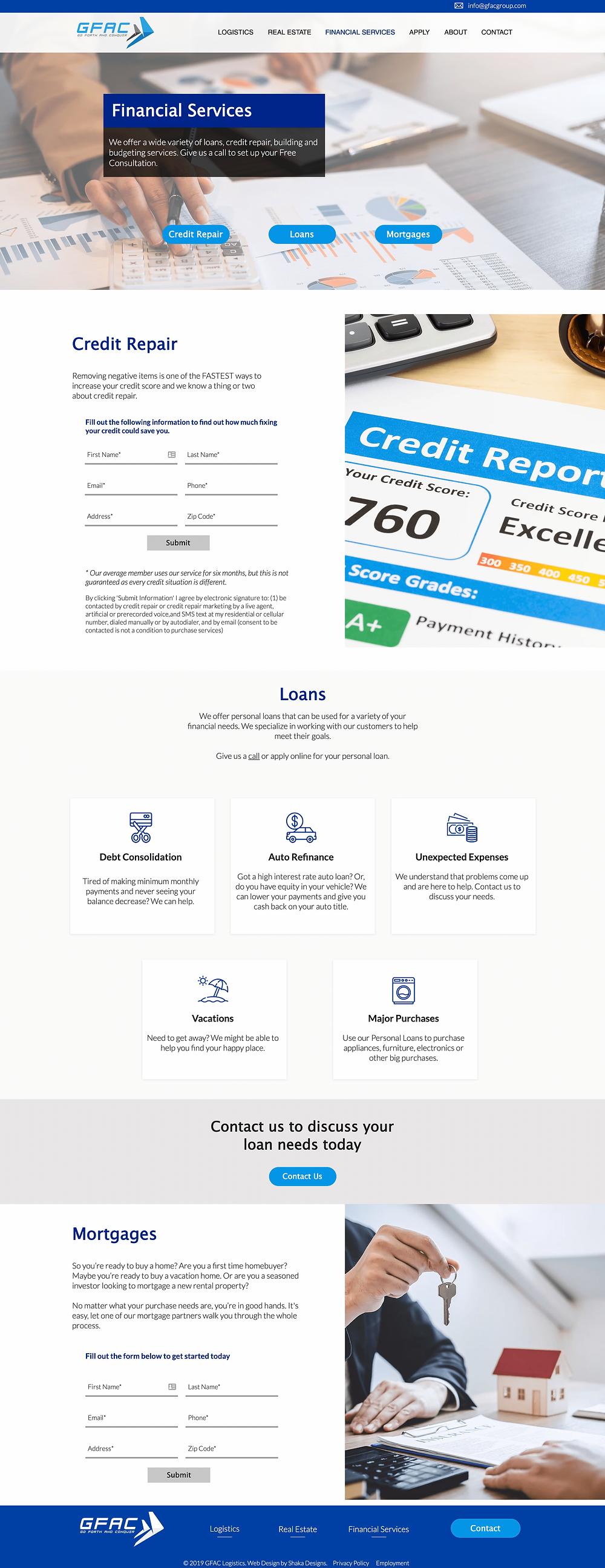 GFAC Logistics website