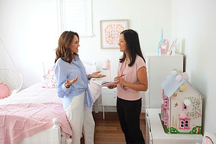 jane langof with feng shui client