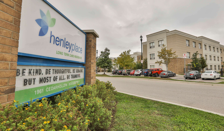henley place long term care facility sign