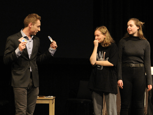 max davidson performing stage magic show