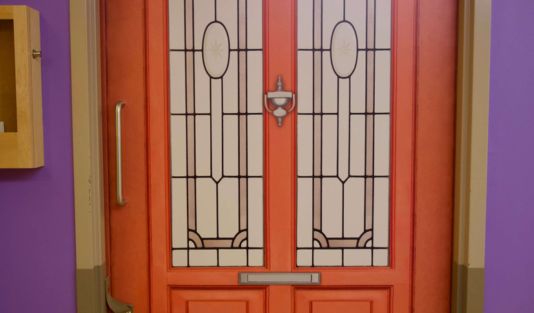 butterfly model of care resident door at burton manor
