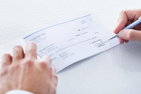 writing check, check cashing, small business check cashing, harjoe money center