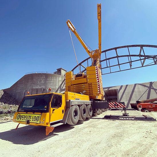 operated crane in service