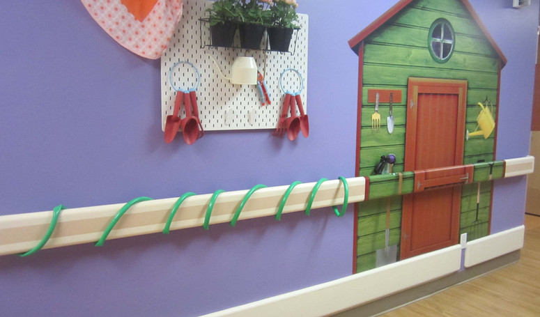 henley house hallway decorated for gardening