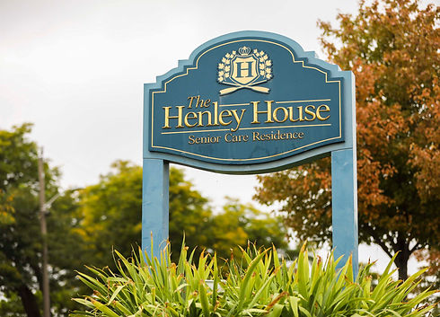 henley house senior care sign