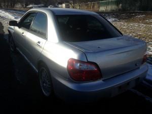 2005 WRX sedan left rear
