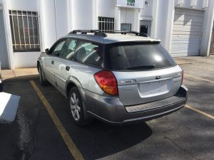 2006 Outback wagon left rear