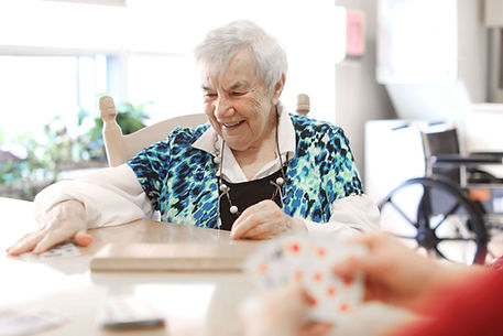 primacare senior resident playing cards